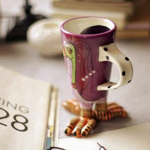 东西在场 孤傲的鸟 描金创意脚趾 咖啡 牛奶 果汁 马克杯