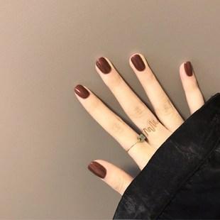 可穿戴少女直接戴的假指甲美甲自然防水拆卸贴片短款指甲盖拍照美