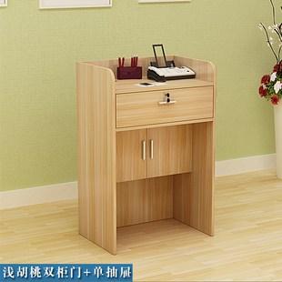 新款装饰 实木 便宜 小型舞蹈简易柜子带锁店铺收银台室前桌发廊