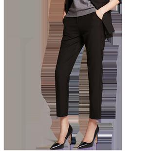 沿知職業裝女西裝褲2019新款大碼百搭顯瘦直筒正裝九分褲OL工作服