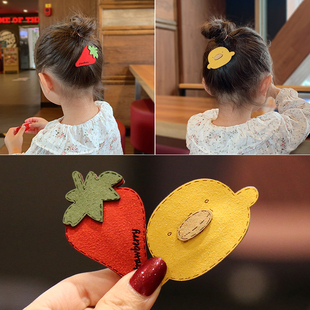 发夹儿童头饰发卡公主头花bb夹女童夹子卡通水果韩国宝宝发饰卡子