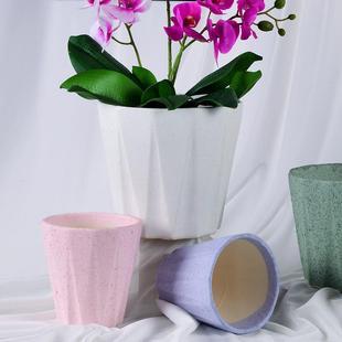【破损包补】陶瓷花盆菱形多彩室内简约多肉绿植花盆 特价清仓