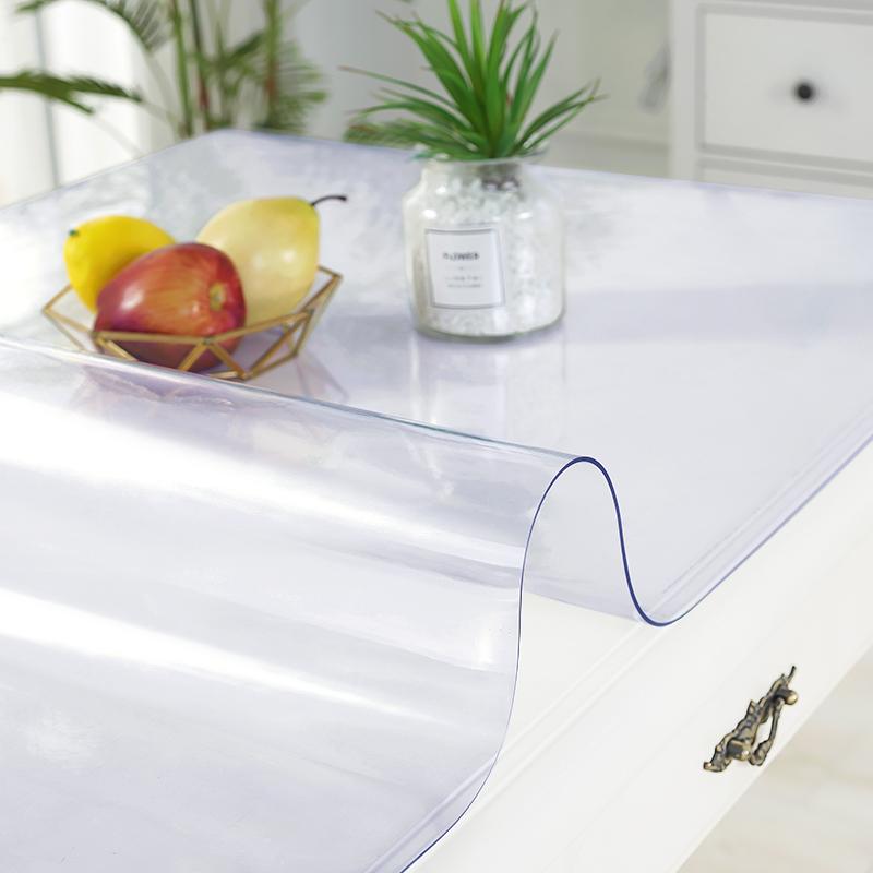 软塑料玻璃PVC桌布防水防烫防油免洗透明餐桌垫北欧茶几垫长方形