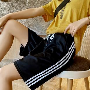 运动短裤女潮港味直筒百搭休闲韩版显瘦宽松夏天外穿季薄款五分裤