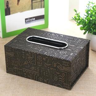 欧式pu皮革纸巾盒客厅酒店宾馆抽纸盒中号纸抽盒车用批发专属LOGO