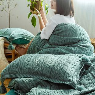 加厚针织毛线四件套 ab面水晶绒珊瑚绒被套床单 保暖秋冬床上用品