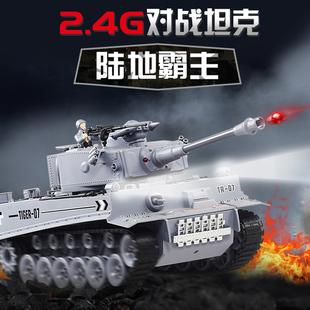 遥控坦克车玩具可发射水弹合金履带式装甲车模型儿童玩具男孩3岁
