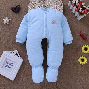 新生儿保暖连体衣幼儿婴儿宝宝连脚连袜哈衣包脚服冬装秋冬外出服