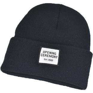 毛线帽子韩版男女秋冬季加厚保暖防风寒骑行情侣针织套头帽子批发