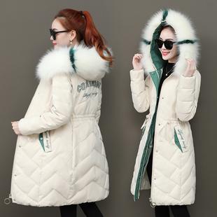 2019冬季新款反季羽绒棉服女外套韩版收腰加厚棉衣中长款修身棉袄
