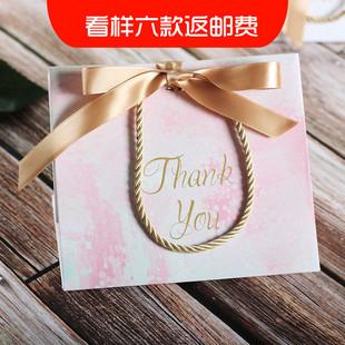 创意回礼袋婚庆结婚礼品袋大理石粉色喜糖袋子手提袋喜糖盒伴手礼