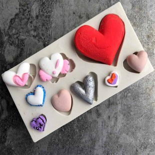 DIY handmade soap mould love heart rose round shape silicone