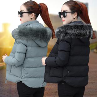 短款棉衣女2018冬季冬装新款修身小棉袄加厚外套时尚韩版羽绒棉服