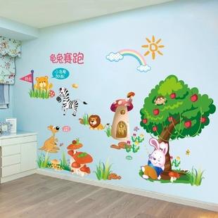 男孩卡通墙纸自粘装饰贴画儿童房间男童卧室创意个性墙贴纸3d立体