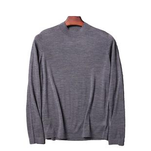 100美利奴羊毛!可贴身!超薄!冬季男士半高领打底衫针织衫毛衣