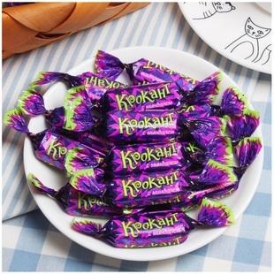 俄罗斯紫皮糖进口原装正品喜糖果散装kpokaht过年货巧克力零食品