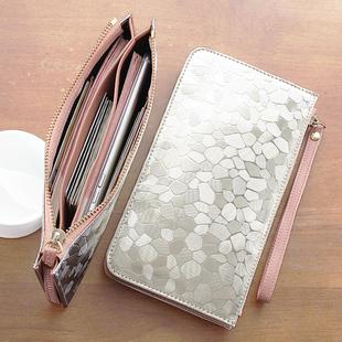 小钱包女长款百搭拉链韩版手机包零钱包袋手包手拿包迷你钱夹女式