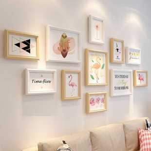 相框创意挂墙组合7 10寸简约实木画框摆台洗照片加相框照片墙装饰