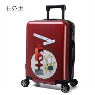 七公主拉杆箱女行李箱韩版万向轮密码箱20寸24复古可爱学火热畅销