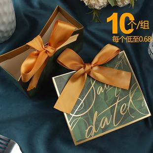 喜铺礼盒 回礼品盒空创意结婚礼请客包装糖果喜事伴手提纸袋欧式