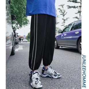 子俊夏季新款裤脚收口休闲裤韩版运动哈伦裤青年潮男生嘻哈九分裤