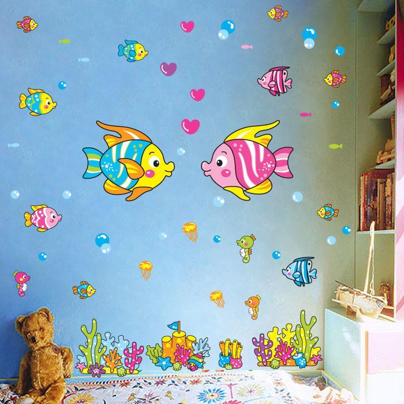 卡通萬聖節女巫牆貼商場創意可愛南瓜頭貼畫房間牆壁防水貼紙自粘