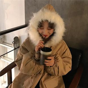 冬季面包棉服女2018新款韩版加厚宽松中长款学生棉衣oversize外套