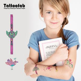 法国Tattoofab儿童纹身贴防水持久手臂贴纸大豆油墨安全无毒