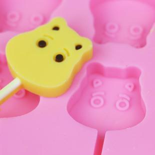 棒棒糖模具diy手工家用制作12连星空可爱棒棒糖硅胶小号套装磨具