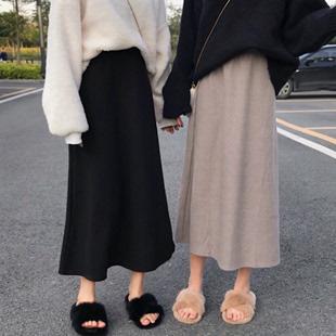 春季2019新款韩版学生格子中长款A字裙半身长裙ins超火的裙子女装