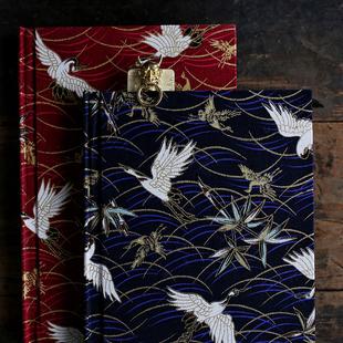 【千鹤寻音】浮世绘和风 烫金 日记本手账本子 礼物 A5 飞鹤 仙鹤