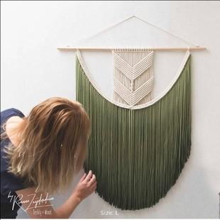 倾心.波西米亚手工染色挂毯 棉线编织壁饰北欧民宿沙发床头背景挂