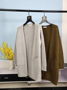 BEANPOLE滨波 2020秋冬季新品男士女士开衫全羊毛毛衣针织衫