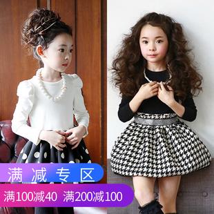 韩版童装冬款加绒加厚中大女童秋装2018新款连衣裙洋气儿童公主裙