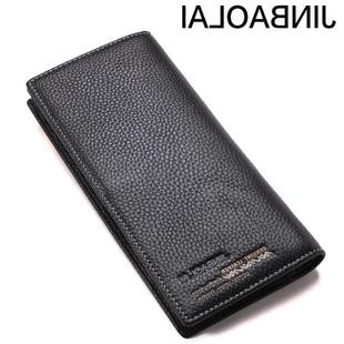 Head layer of cattle leather male long-length wallet men's