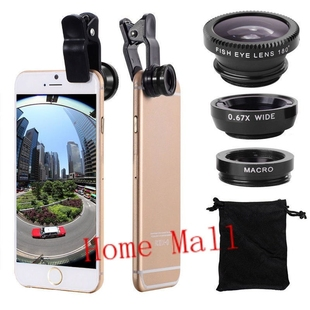 Wide Angle Macro Fisheye Lens Kit with Clip 0.67x for iphone