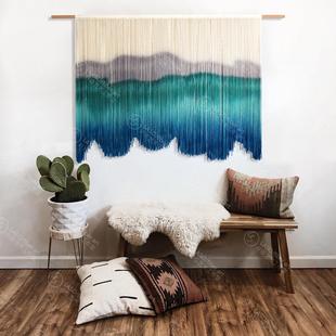 。/波西米亚手工编织染色挂毯民宿装饰挂画北欧ins挂布现货包邮