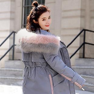 小个子羽绒棉服女中长款2019新款冬季外套收腰棉袄修身棉衣女装潮