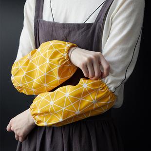 日式棉麻袖套 文艺厨房防污袖套办公室工作防脏护袖日常家务袖套