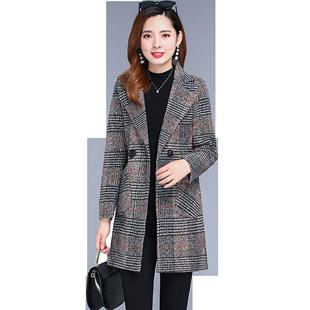 秋冬季中老年女装中长款宽松大码夹棉风衣中年妈妈休闲长款棉外套