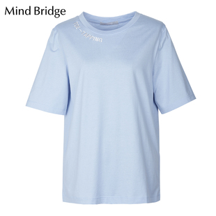 Mind Bridge短袖T恤衫百家好女装2019夏季新品女士上衣 MTTS321F