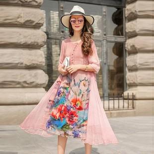 两三事梵高博物馆授权解构主义迷仙女超仙森系复古半身裙艺术风