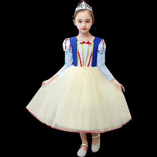 萬聖節兒童服裝愛莎公主裙女童連衣裙冰雪奇緣艾莎白雪公主裙子秋