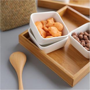北欧ins创意简约家用欧式陶瓷分格干果糖果客厅零食盒水果盘