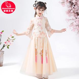 儿童汉服女春秋女童古装裙子夏装超仙中国风唐装童装女孩连衣裙夏