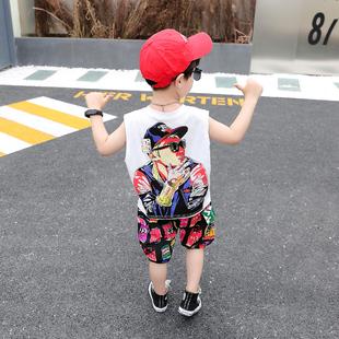 男童背心短裤套装2019新款中大童夏装纯棉无袖两件套儿童装夏季薄