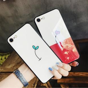蘋果8手機殼iphone7plus女8p玻璃i6個性6s簡約蘋果6p套6splus六七