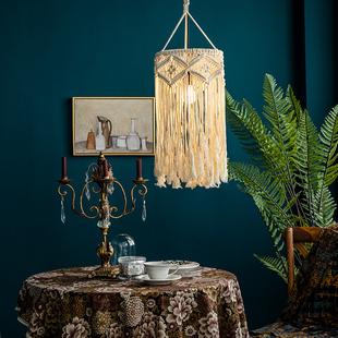 馨生活北欧挂毯波西米亚手工编织灯罩挂画布艺装饰遮挡民宿样板房