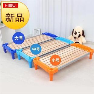 重叠床午睡床。小孩子休息独立大班小朋z友床铺幼儿园儿童可叠放