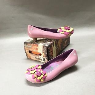粉色女鞋 花朵低帮鞋